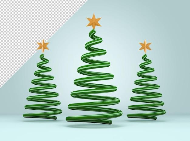 Макет трех рождественских елок