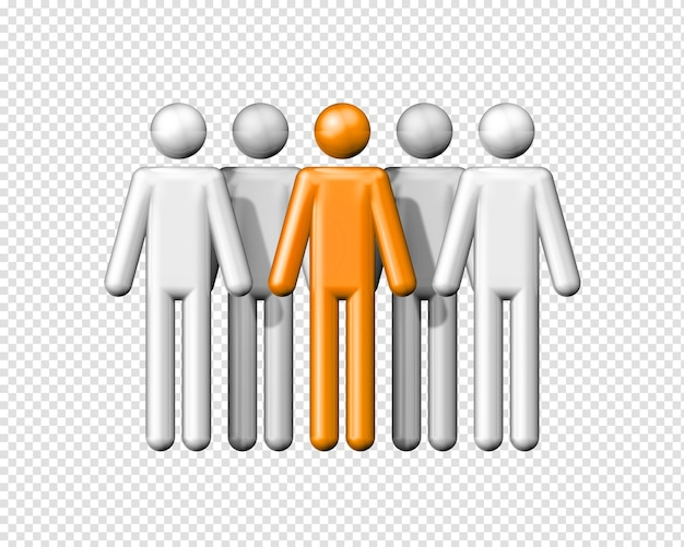 Трехмерная группа людей фигурок