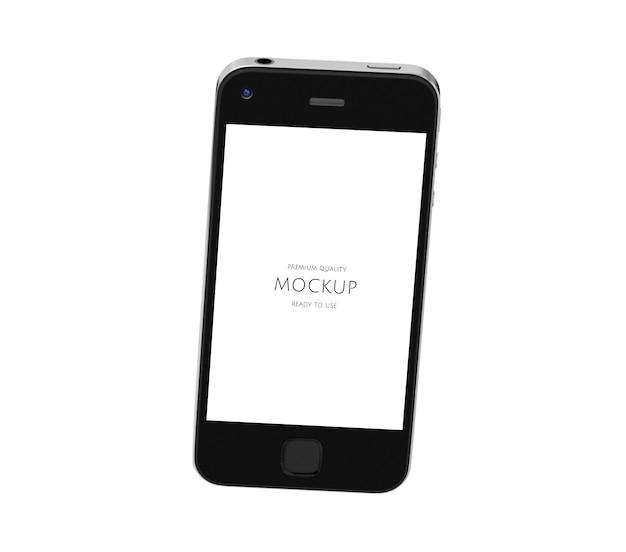 Three dimensional image of mobile phone mockup