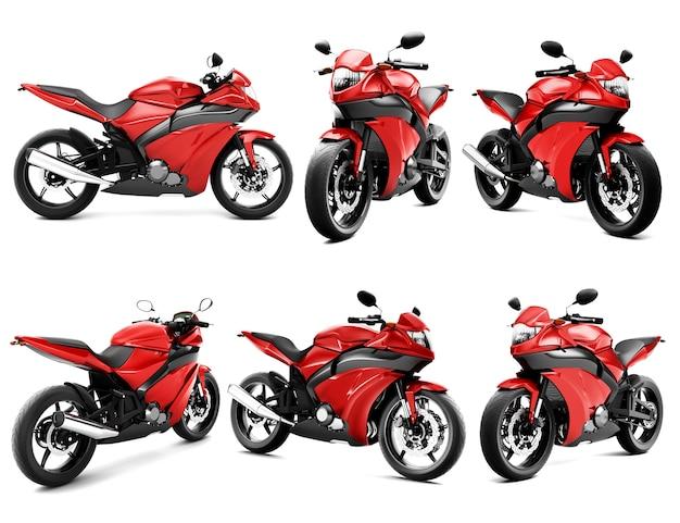 Three dimensional image of motor bike