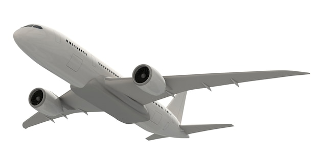 Three dimensional imageof an airplane