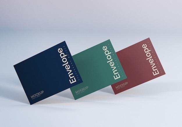 Three envelope mockup design