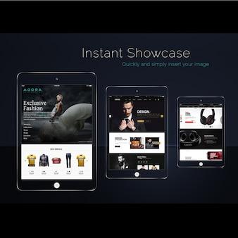 Three ipad screen mock up