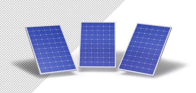 Макет трех солнечных панелей
