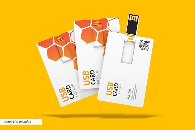 3 개의 usb 플래시 디스크 카드 모형