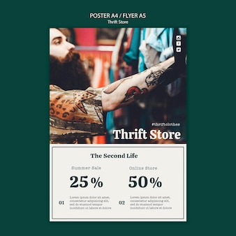 Thrift store flyer template