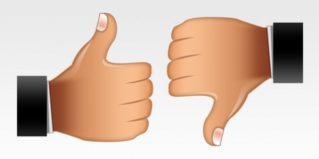 Thumbs up  thumbs down icons