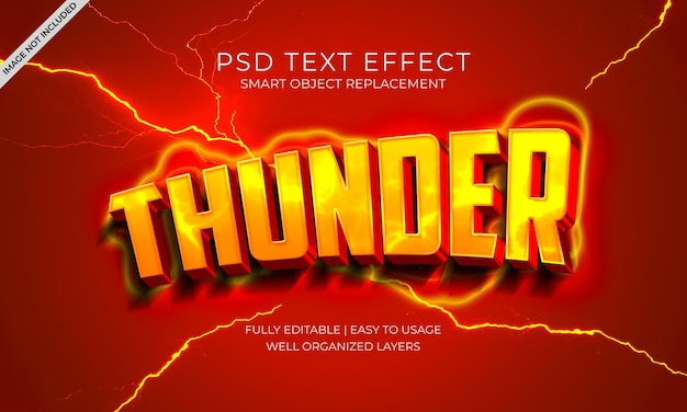 Thunder lightning glow 텍스트 효과