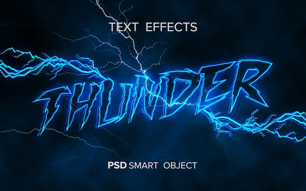 Thunder text effect smart object