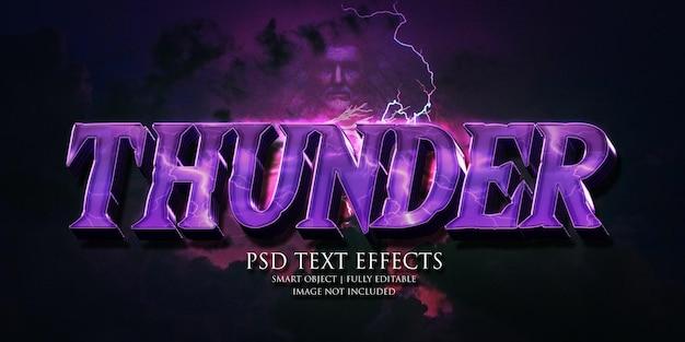 Thunder text effect
