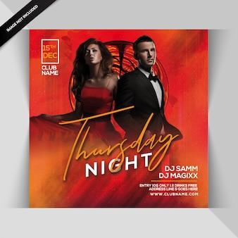 Thursday night party flyer