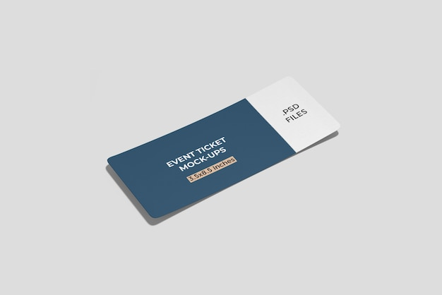 Ticket/ boarding pass mockup