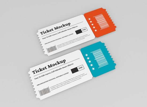 고립 된 티켓 이랑 디자인
