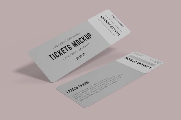 Ticket mockup design