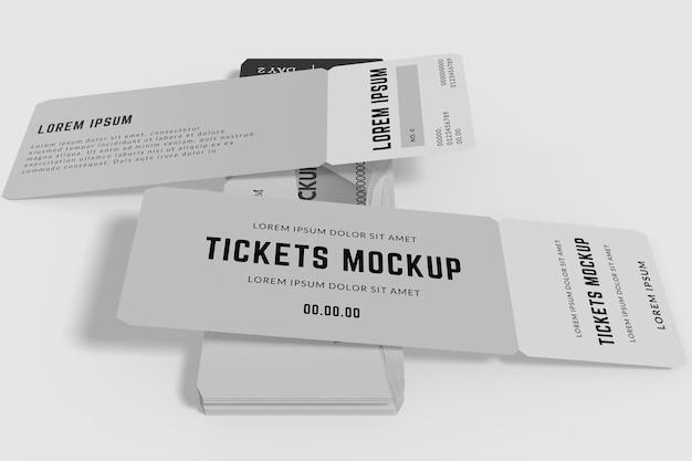 티켓 모형 디자인