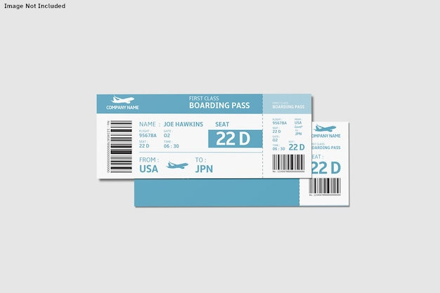 Ticket mockup isolated