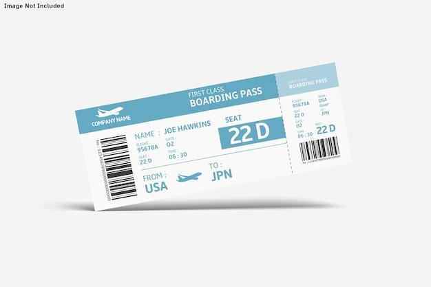Ticket mockup isolated