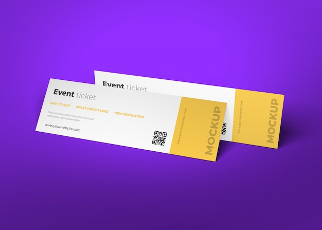 Ticket mockup template design