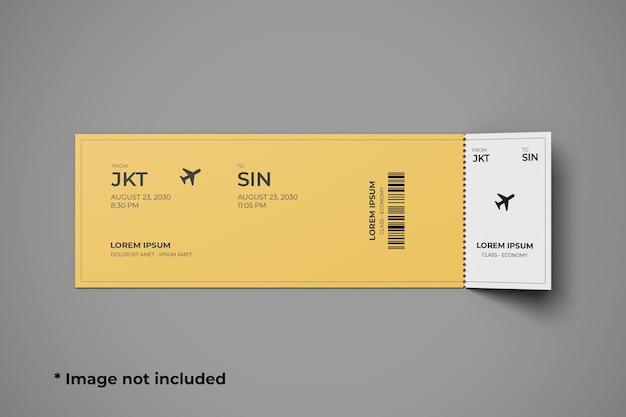 Вид сверху макета билета