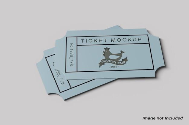 티켓 모형 프리미엄 PSD 파일
