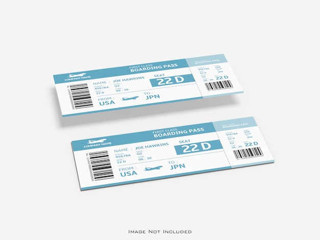 Ticket on white