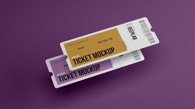 Билеты с редактируемым цветовым макетом