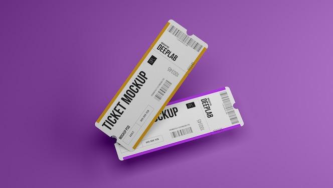 편집 가능한 색상 모형이있는 티켓