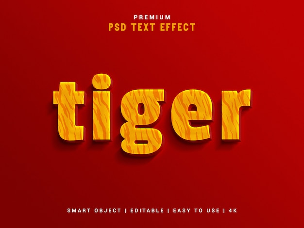 Tiger text effect maker