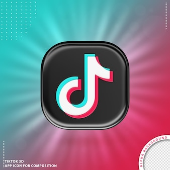 Tiktok 3d aplication icon