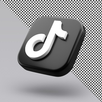 Tiktok 3d icon design isolated