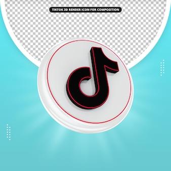 Tiktok 3d render icon for composition