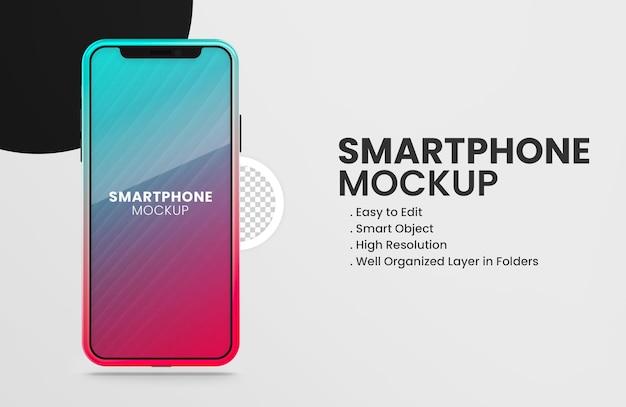 On tiktok color smartphone device mockup