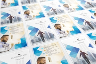 Tiled perspective flyers mockup