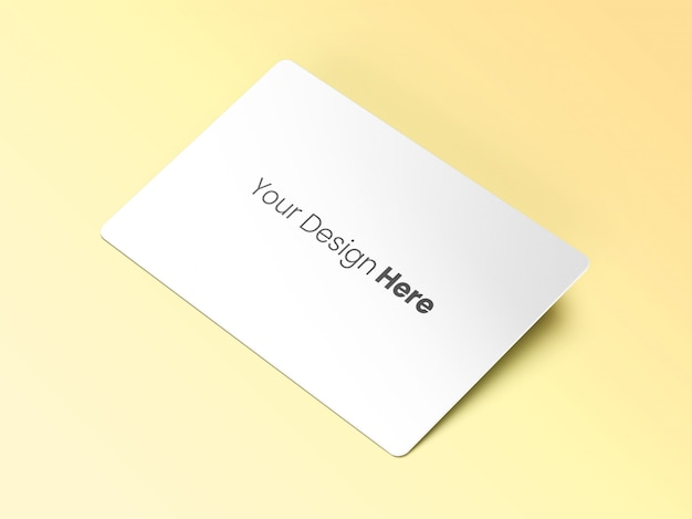 Tilted business card mockup