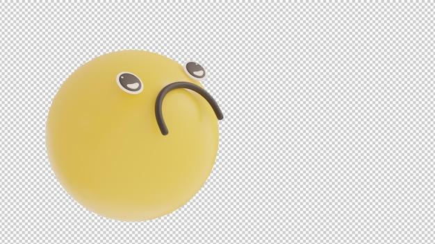 Наклонный взгляд грустный 1 смайлик png