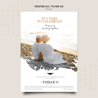 Time to celebrate travel poster template