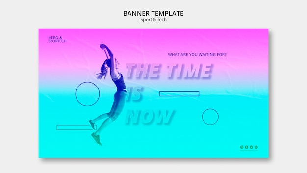 The time is now banner template