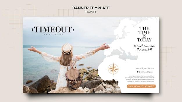 The time is today banner template