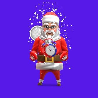 Limite di tempo per lo shopping natalizio. rendering 3d