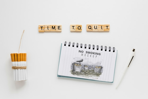 Time to quit smoking concept