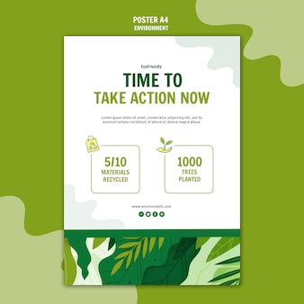 Time to take action poster