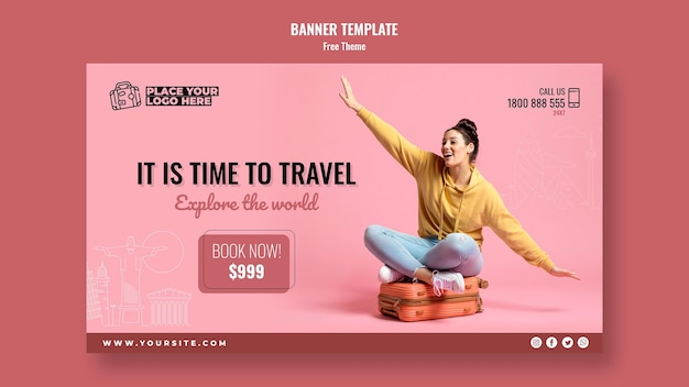 Time to travel banner template