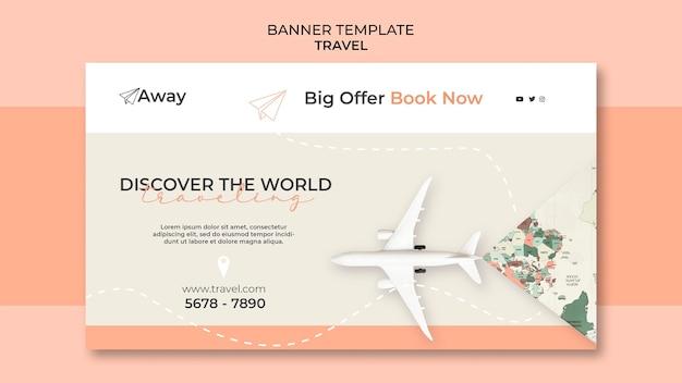 È ora di viaggiare modello di banner di grande offerta