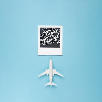 Time to travel motivational lettering quote for holidays traveling concept
