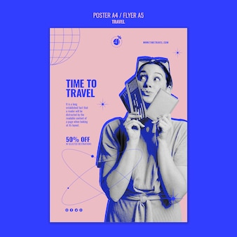 Time to travel print template