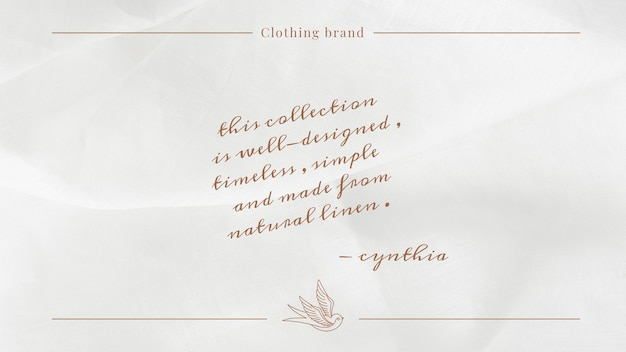 Timeless fashion template psd for social media banner