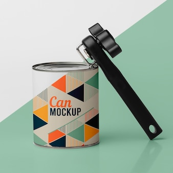Tin can and can opener