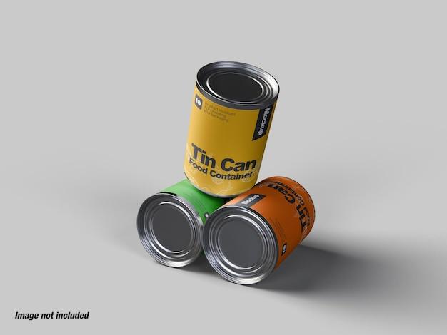 ブリキ缶食品容器
