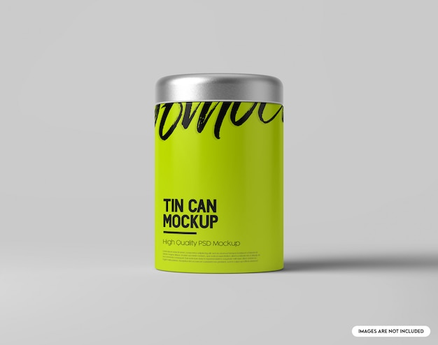 Tin can mockup