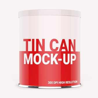 Tin can packaging mock-up